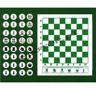 Szachy magnetyczne z 32 figurami - nakładka magnetyczna z wyposażeniem